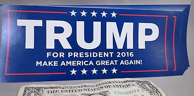 Wholesale Lot Of 100 Trump For President Make America Great Again Bumper Sticker