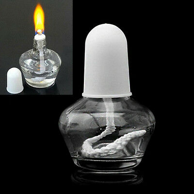 Durable Alcohol Burner Burning Lamp Clear Glass Lab Equipment Heating 60ml New