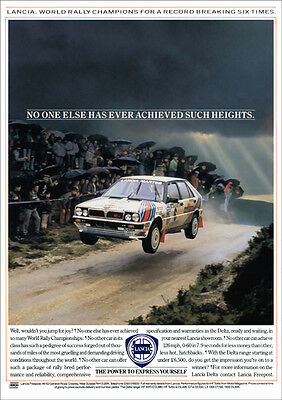 Lancia Delta Hf Turbo Rally Car A3 Poster Print From 80's Advert