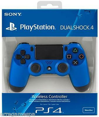 PlayStation 4 - Controller Dualshock 4 Wireless,  Wave Blue  per PS4 Nuovo.