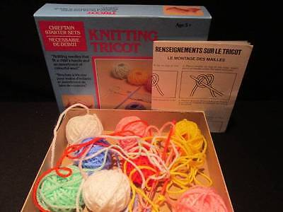 Knitting Kit P56 Ages 5+ Chieftain Starter Set with instructions, needles, yarn