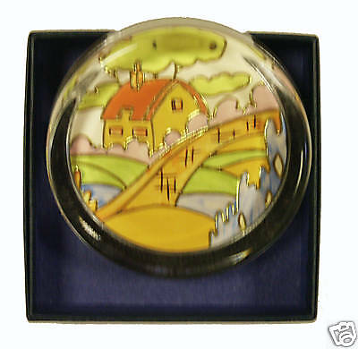 Clarice Cliff Large Paperweight -ORANGE ROOF COTTAGE