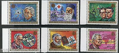 Guinea Bissau Nobel Prize Winners Einstein Dunnant Curie Fleming Sc#374/74E Mint