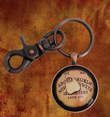 OUIJA BOARD KEY RING  VINTAGE COPPER FINISH Custom Initial Personalize  USA