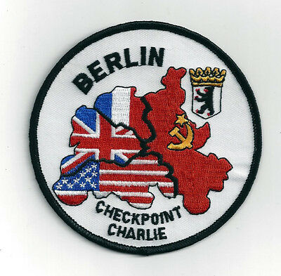 Xl Check Point Charlie Patch Us Army Marines Navy Air Force Berlin Wall Crossing