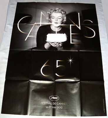 FESTiVAL DE CANNES 2012  Marylin Monroe  LARGE French POSTER