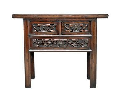 19Th Century Chinese Carved Elm Small Dresser