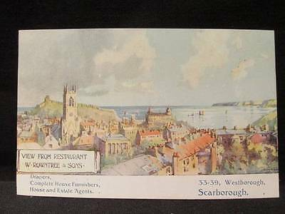 W Rowntree & Sons  Drapers Furnishers Agents Scarborough Early 1900s postcard