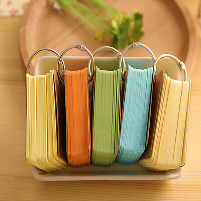 Candy Color Memo Pad Ring Buckle Sticky Notes School Stationery Random Color