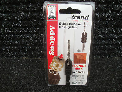 "Trend Snappy Hss Drill Countersink 1/4"" Hex Shank Snap/cs12 10 & 12"