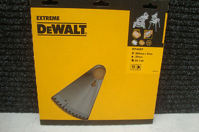Dewalt Extreme Dt4287 250Mm 80Tooth Tct Table Mitre Saw Blade + 12 Pencils