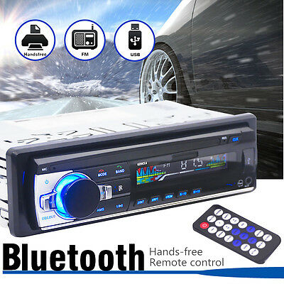 Car Radio Bluetooth Stereo Audio 1 DIN In Dash SD/USB FM Aux Input MP3 Player