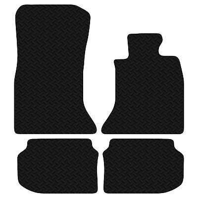 BMW 5 Series F10 2010 Onwards Black Floor Rubber Tailored Car Mat 3mm 4pc Set