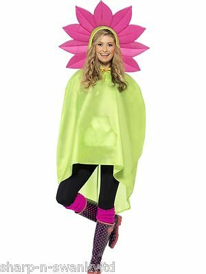 MUJER HOMBRE Festival Esencial Flower Power Impermeable Fiesta Poncho Accesorio