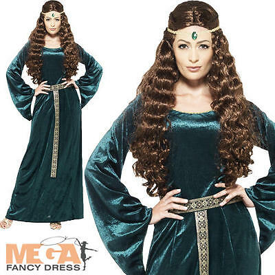 Medieval Maid Marion Ladies Fancy Dress Robin Hood Womens Adults Costume Outfit