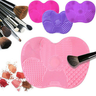 Hot Silicone Makeup Brush Cleaner Washing Scrubber Board Cleaning Mat Tool BKB