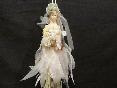 Katherine's Collection Victorian Look Woman with Pearls, Lace & Beads Ornament