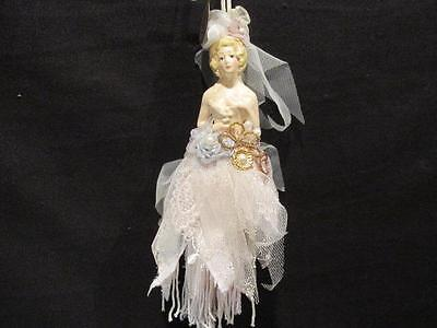 Katherine's Collection Victorian Look Woman with Pearls, Lace & Flowers Ornament