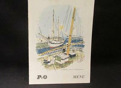 P&O SS Himalaya Thurs April 3 1958 Luncheon Menu Peninsular & Oriental Line