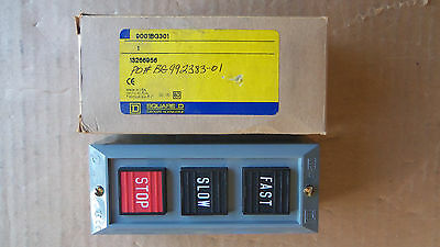New Square D 9001BG301 Fast/Slow/Stop Control Buttons Momentary
