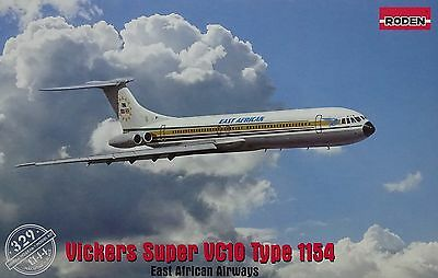 "RODEN® #329 Vickers Super VC10 Type 1154 ""East African Airways"" in 1:144"