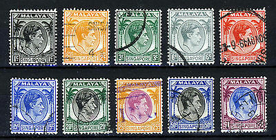 SINGAPORE MALAYA King George VI 1948-52 First Issue Part Set P 14 SG 1 - SG 13