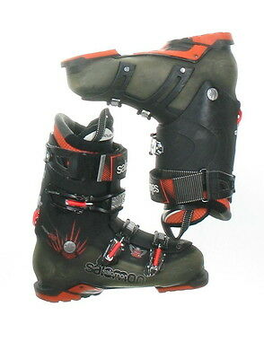 Used Salomon Quest 880 Black & Orange Buckle Ski Boots Men's Size