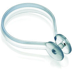 Croydex Shower Curtain Button Rings (Pack of 12) Clear + Tape Measure
