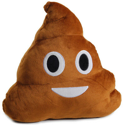 Emoji Poop Pillow Plush Round Cushion Stuffed Toy Doll for Kids Bed Chair Seat