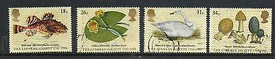 GB 1988 linnean society Bicenten fine used set stamps