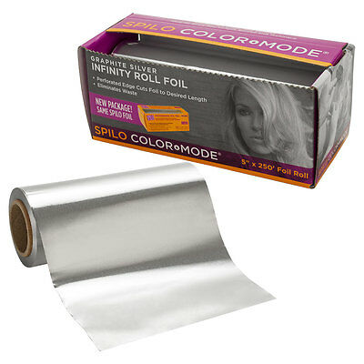"Spilo Graphite Silver Infinity Roll Foil Mulit-Purpose Hair and Nails 5"" x 250'"