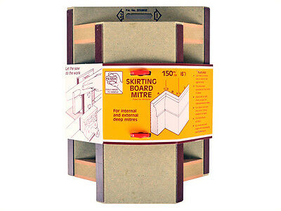 "EMIR 150mm (6"") SKIRTING BOARD MITRE CUTTING BOX TOOL - Internal & External Cuts"