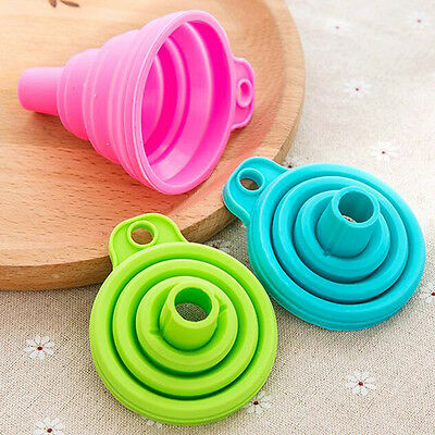 Random Color Mini Silicone Gel Foldable Collapsible Style Hopper Kitchen