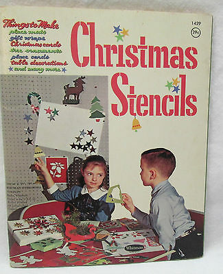 Vintage Whitman Publishing Co. 1962 Christmas Stencils Holiday Crafts Book