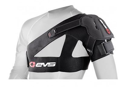 EVS SB04 Shoulder Brace Support DUAL Moto Protection BLACK Small-2X-Large SB04