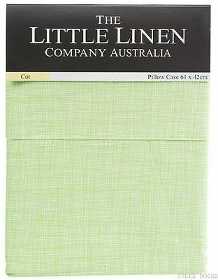 The Little Linen Company TLLC Wiggle Check Cot Pillowcase - Green