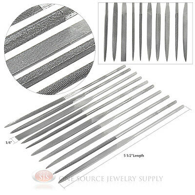 10 Needle Files Assorted Shapes Sizes Metal Smithing Working Jewelry Tools