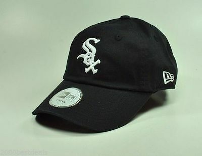 New Era Hat MLB Chicago White Sox Youth Size Essential 920 Black Adjustable Cap