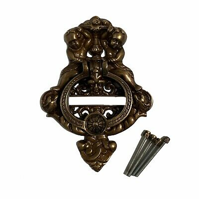 Large Heavy CAST BRASS DOOR KNOCKER vintage victorian Antique Bronze