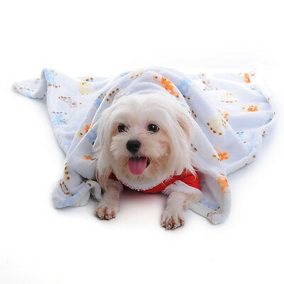 Warm Pet Mat Print Cat Dog Puppy Coral Fleece Soft Blanket Bed Cushion
