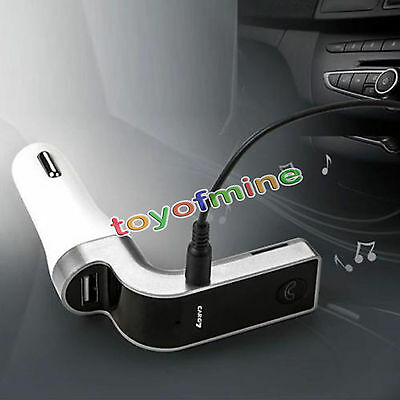 G7 Bluetooth Car Handsfree FM Transmitter Radio MP3 Player USB Charger AUX Grey