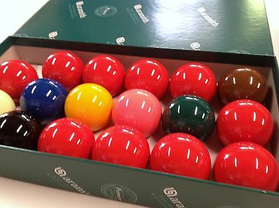 "GENUINE REAL ARAMITH SNOOKER BALLS Set 2"" inch 10 Red Quality Premier edition"