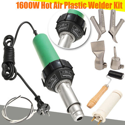 1500W Hot Air Torch Plastic Welding Gun Welder Pistol+ 2pcs Speed Nozzle +Roller