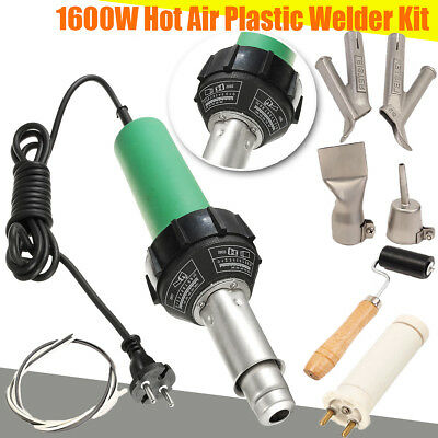 1600W Hot Air Torch Plastic Welding Gun Welder Pistol+ 2pcs Speed Nozzle +Roller