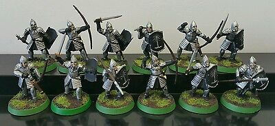12 x Warriors of Minas Tirith well painted plastic models LOTR Hobbit GONDOR