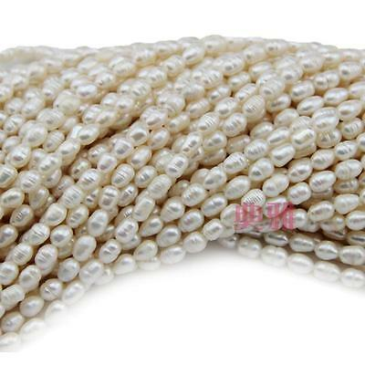 Jewelry making 1Strand Natural Freshwater Pearl Beads Rice-shaped thread 6-7mm