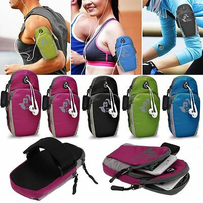 Universal Sports Running Riding Yoga Armband Case Holder Zipper Bag for phones