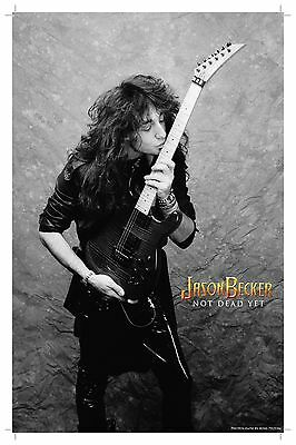 SIGNED and THUMB PRINTED by Jason Becker GUITAR KISS Poster (17 x 11 inches)