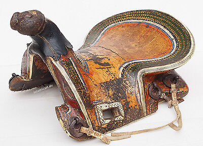 Antique islamic turkmen ottoman wooden painted horse saddle pferde Sattel 17/A