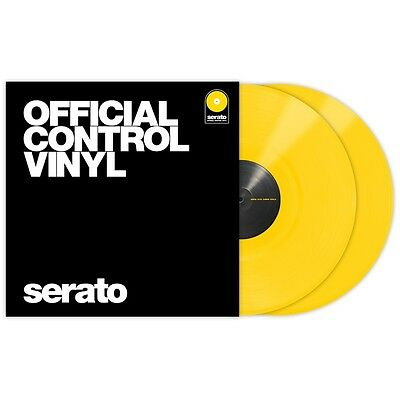 "Serato Performance Series Coppia Pair - Yellow 12"" Control Vinyls Vinili"